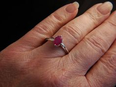 Forever Ruby  Ruby gemstone ring by ArtWearbyCaron on Etsy, $116.00