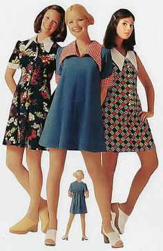 Sew Sixties: 60s/70s Fashion Inspiration: Oversized Collars