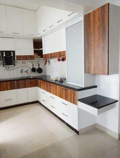 Here you will find photos of interior design ideas. Get inspired! Simple Kitchen Design, Kitchen Room Design, Home Decor Kitchen, Interior Design Kitchen, Moduler Kitchen, Kitchen Units, Modern Kitchen Interiors, Modern Kitchen Furniture, Small Modern Kitchens
