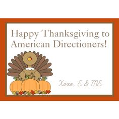 Happy Thanksgiving! I'm thankful for all our sweet followers! -E