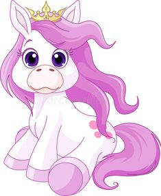 Photo about Illustration of cute horse princess. Illustration of clip, princess, little - 30007318 My Little Pony, My Little Nieces, Purple Unicorn, Unicorn Art, Stock Art, Unicornios Wallpaper, Princess Cartoon, Cute Clipart, Cute Horses