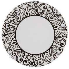 Bulk White Paper Party Plates with Black Damask Patterns 9  18-ct. Packs at DollarTree.com  sc 1 st  Pinterest & Zebra Dots Paper Plates 7