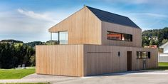 Temporary Architecture, Timber Architecture, Rustic Modern Cabin, Beautiful Homes, Concrete, New Homes, Shed, Villa, House Design