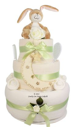 Luxury Guess How Much I Love You LIttle Nutbrown Hare Newborn Nappy Cake Gift…