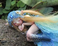 Tiny Chubbly Bub Faery Fairy Fungi Woodland by Celia Anne