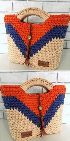 trending design of crochet bag Tricot et Crochet Simple Yet Attractive Crochet For Various Projects Bag Crochet, Crochet Handbags, Crochet Purses, Crochet Gifts, Cute Crochet, Crochet Shawl, Crochet Stitches, Crochet Baby, Crochet Things