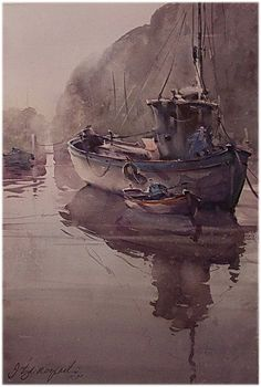 Dusan Djukaric - Watercolor 38x56 cm