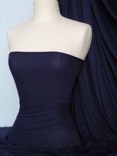 Midnight navy blue interlock jersey fabric material-t shirts Soft texture 100% cotton jersey interlock, £3.99/m