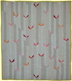 What a great way to use my bits of Japanese kimono silk!//sarah nishiura small quilt 17