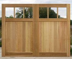 Wood Garage Doors | Wood Overhead Doors, stained teak colored