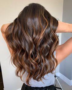 Brunette Hair With Highlights, Brown Hair Balayage, Brown Blonde Hair, Hair Color Balayage, Gorgeous Hair, Hair Looks, Dyed Hair, Hair Inspiration, Hair Makeup