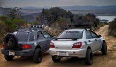 off-road Subaru Imprezas