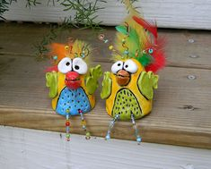 Goony birds  How incredibly cute!  Oh I think the kids would love creating these!  Now to find a really good recipe for homemade air-drying clay....