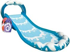 Small Kiddie Blow Up Above Ground Swimming Pool Is Great For Children & Toddlers To Have Outdoor Water Fun With Slide Toys & Floats. This Intex Baby Swim Pool - Light & Portable Best Slip And Slide, Slip N Slide, Inflatable Water Park, Intex Pool, Above Ground Swimming Pools, Baby Swimming, Play Centre, Water Play, Wet Water