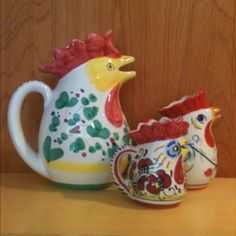 Rooster pitchers.