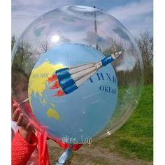 """Подарочный гелиевый шар """"Покорение космоса"""" #денькосмонавтики #ракета"""