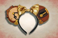 Enchanted Clock Mouse Ear Headband with Bow Disney Minnie Mouse Ears, Diy Disney Ears, Disney Diy, Disney Crafts, Disney Ideas, Disney Ears Headband, Disney Headbands, Ear Headbands, Disney Bound
