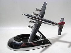 Vintage american airlines dc 3 old chrome desk model airplane 1930s art deco chrome swiss air sroisair airplane sciox Image collections