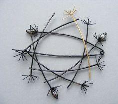 Nicola  Mather (UK) -   'Dandelion' Series brooch
