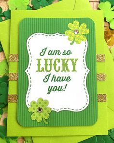Lucky card by PaperDahlsLLC on Etsy