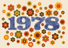 Seventies 1978 Cool birthday invitation with typical Seventies flowers and number 1978 in jeans look Birthday Bash, Birthday Invitations, Birthday Parties, 1970s Party, 70s Decor, Happy 40th, Happy Birthdays, Anniversary Parties, Wedding Anniversary