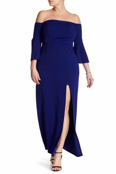 Looking for Plus Size Fashion & You're on a Budget? Bookmark these Places! http://thecurvyfashionista.com/2017/02/plus-size-fashion-budget/  Need this plus size, off the shoulder, royal blue evening dress!   Looking to get more fashion for your money when you shop?  There are several retailers who offer great plus size fashion for under $50.  And today we share with you 10 places to shop when you are on a budget and to bookmark!