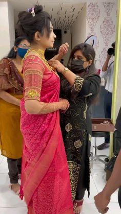 Indian Gowns Dresses, Indian Fashion Dresses, Indian Designer Outfits, Bridal Dresses, Indian Bridal Hairstyles, Indian Bridal Outfits, Indian Bridal Fashion, Wedding Saree Blouse Designs, Half Saree Designs