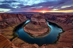 The Horseshoe Bend at the Grand Canyon.