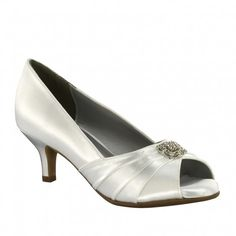 Kristin by Dyeables White Dyeable or Ivory Wedding or Occasion Shoes