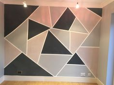Kitchen wall after Bedroom Wall Designs, Wall Decor Design, Cute Bedroom Ideas, Cute Room Decor, Small Room Bedroom, Room Decor Bedroom, Painted Bedroom Doors, Geometric Wall Paint, Wall Paint Patterns