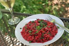 Rhubarb and Venison: Beet Risotto