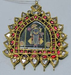 Gold krishna pendant 20 ct solid gold diamond