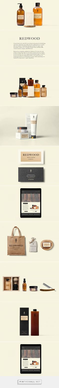 Redwood Cosmetics — The Dieline -simple, masculine, earthy