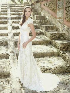 romantic lace gown