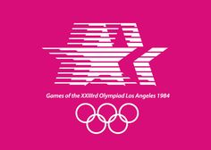 1984 Los Angeles Olympics, USA by Los Angeles 84 Design Team The Los Angeles Olympics was not government backed, therefore it had a much lower budget than many of the previous and subsequent olympic games.