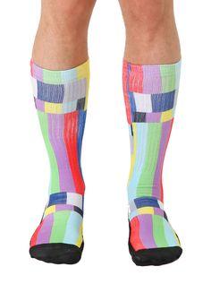 TV Warning Sport Sock