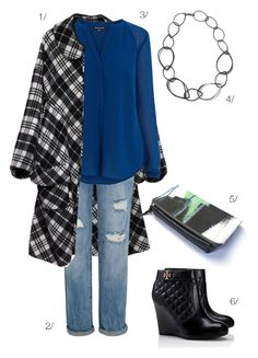 street style inspired: plaid statement coat and chunky chain necklace for fall // click for outfit details