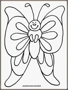 gambar mewarnai binatang kupu-kupu