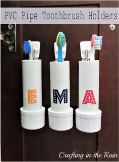 PVC Pipe Toothbrush Holders