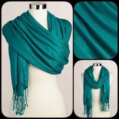"Emerald Shawl. New. Timeless and stylish piece can be used as a shawl or a scarf.  Brand new item. 33"" W x 80"" L Accessories Scarves & Wraps"