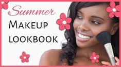 Summer make up lookbook , perfect for using for a youtube video template. Image of girl applying make up included. Youtube Video Template, Youtube Video Thumbnail, Applying Makeup, How To Apply Makeup, Summer Beauty, Summer Makeup, Creative Video, Girls Image, Beauty Makeup