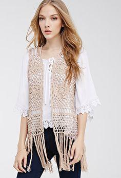 Fringed Crochet Vest | FOREVER21 - 2000134607