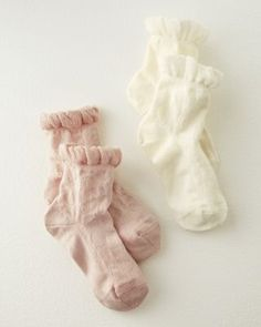 Pretty party socks! Ruffled-Top Ankle Socks by MP