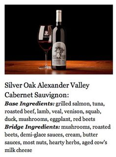 Pairing Basics for Silver Oak Alexander Valley Cabernet Sauvignon