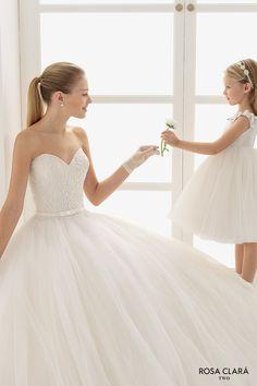 rosa clara two spring 2016 strapless sweetheart neckline embellished bodice princess ball gown wedding dress sweep train (edna) mv