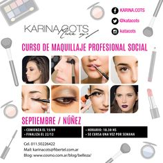 Diseño de Flyer para Karina Cots - Maquilladora Profesional Blog I Love Beauty - Cosmo Arg.