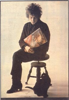 Bob Dylan and his cat.