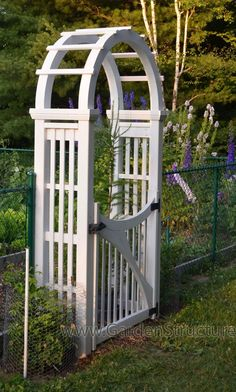... Plans / Designs > Arbor Plans > Laminated Arched Arbor with Gate
