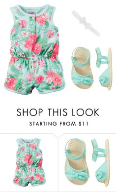 """Tropical Print Romper"" by babiesswardrobe ❤ liked on Polyvore featuring Carter's"