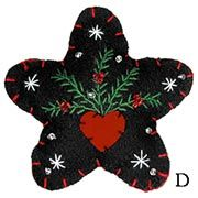 .pretty ornament idea to blend my favs. embroidery and felt.